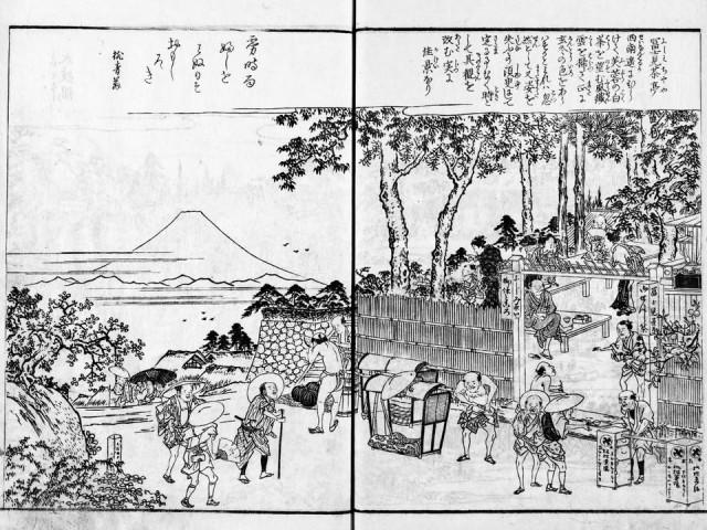 長谷川雪旦「富士見茶亭」(江戸名所図会)