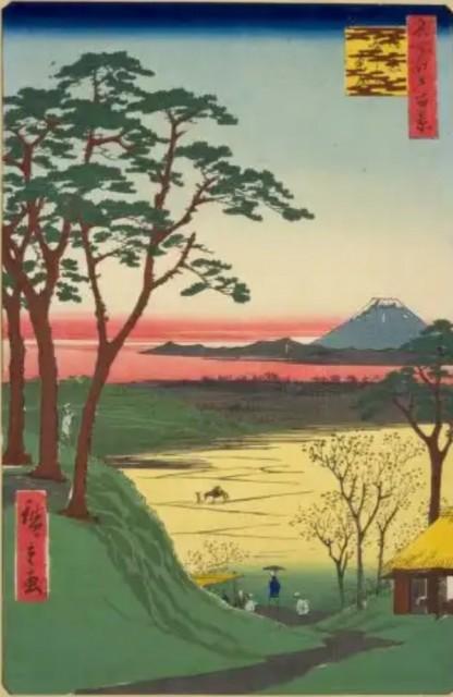 歌川広重「目黒爺々ヶ茶屋」(名所江戸百景)