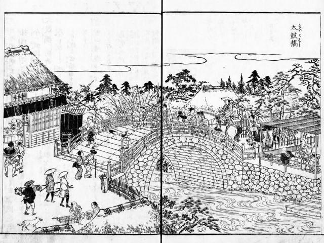 長谷川雪旦「太鼓橋」(江戸名所図会)
